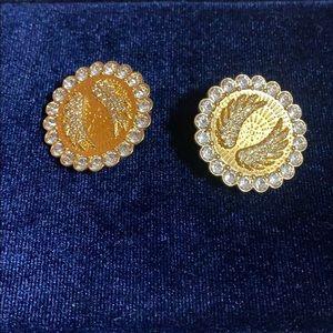 Swaorvski lucky goddess clip on earrings